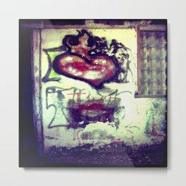 Flaming Heart - The Rural Graffiti Series Metal Print