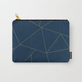 Golden Crystal Web Pattern Carry-All Pouch
