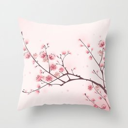 Oriental cheery blossom in spring 006 Throw Pillow