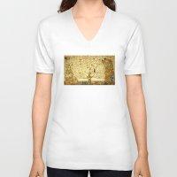 gustav klimt V-neck T-shirts featuring Gustav Klimt The Tree Of Life  by Art Gallery