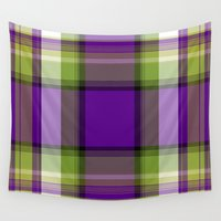 plaid Wall Tapestries featuring Plaid by Kevin Rogerson