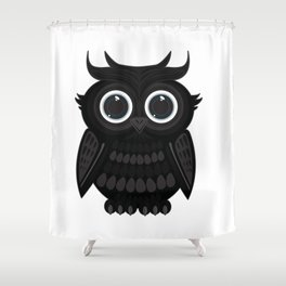 Black Owl Shower Curtain