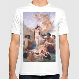 The Birth of Venus by William Adolphe Bouguereau T-shirt