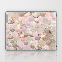 MERMAID SHELLS - CORAL ROSEGOLD Laptop & iPad Skin