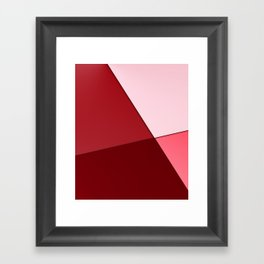 Pink, red. Framed Art Print