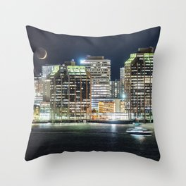 Haligonian Moonset Throw Pillow
