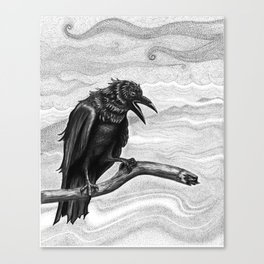 Raven in the Mist Canvas Print