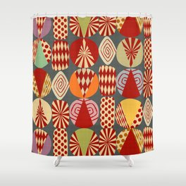 christmas tree MINIMALIST Shower Curtain