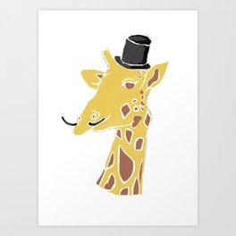 Gentleman Giraffe Art Print
