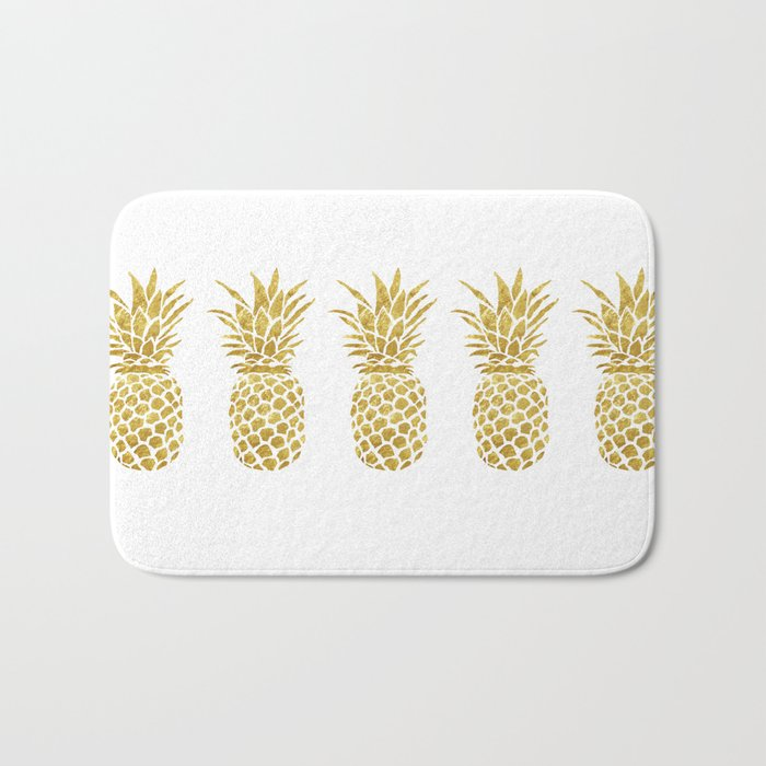 Golden Pineapple Bath Mat