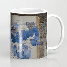 hydrangea and book Coffee Mug