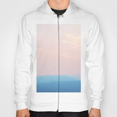 Pastel sunset over the mountains Hoody