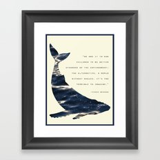 World Without Whales Framed Art Print
