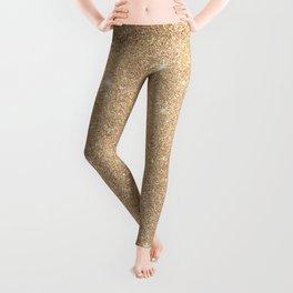 Gold Glitter Chic Glamorous Sparkles Leggings