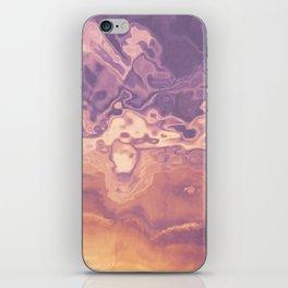 Gold violet pattern iPhone Skin