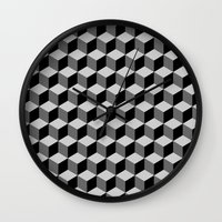escher Wall Clocks featuring Escher by Adikt