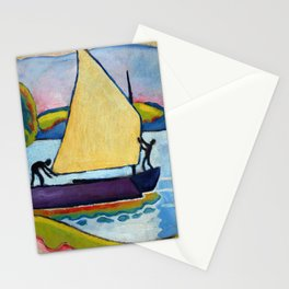 """August Macke """"Segelboot am Morgen (Sailboat in the morning)"""" Stationery Cards"""