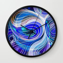 Everything Is Created Imperfect Blue Coral Wall Clock