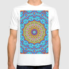 Blueberry Pancake Mandala Kaleidoscope Mens Fitted Tee MEDIUM White