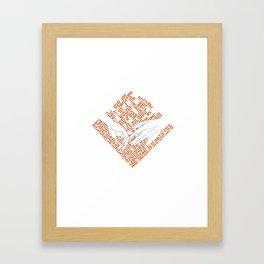 Kufic Hands Framed Art Print