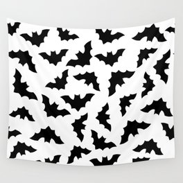 Seamless pattern with flying bats.  Wall Tapestry