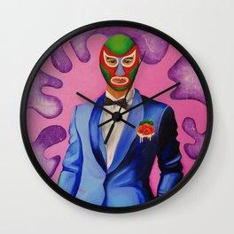 Mucho Luchador Wall Clock