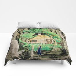 1925 Classical Masterpiece 'Hansel and Gretel by Brothers Grimm' by Kay Nielsen Comforters