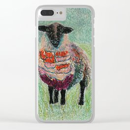 Orange Wool Clear iPhone Case
