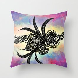 Spiral Feathers Throw Pillow