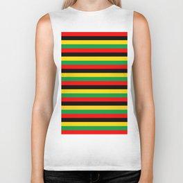 Biafra Mozambique Zambia flag stripes Biker Tank