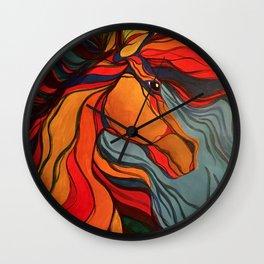 Wild Horse Breaking Free Southwestern Style Wall Clock