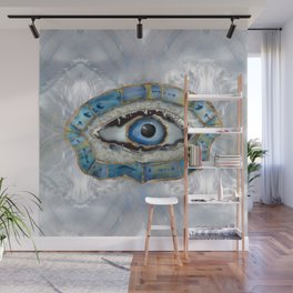 Evil Eye Amulet Geodes and Crystals Wall Mural