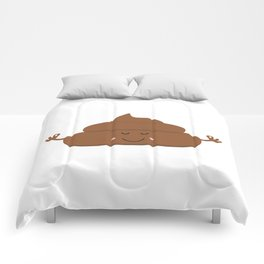 Meditating poo Comforters