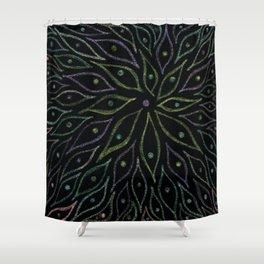 Glittering Leaves Shower Curtain