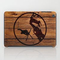 skiing iPad Cases featuring skiing 3 by Paul Simms