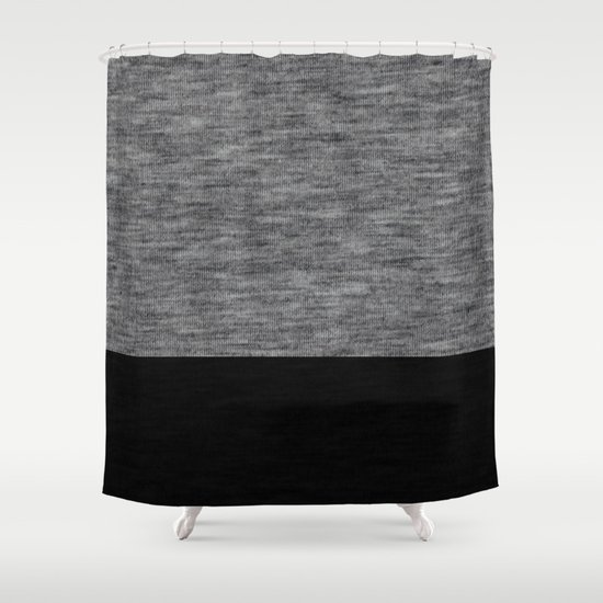 Athletic Grey And Black Shower Curtain By Patterns And