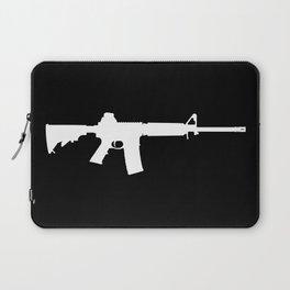 AR-15 (on black) Laptop Sleeve