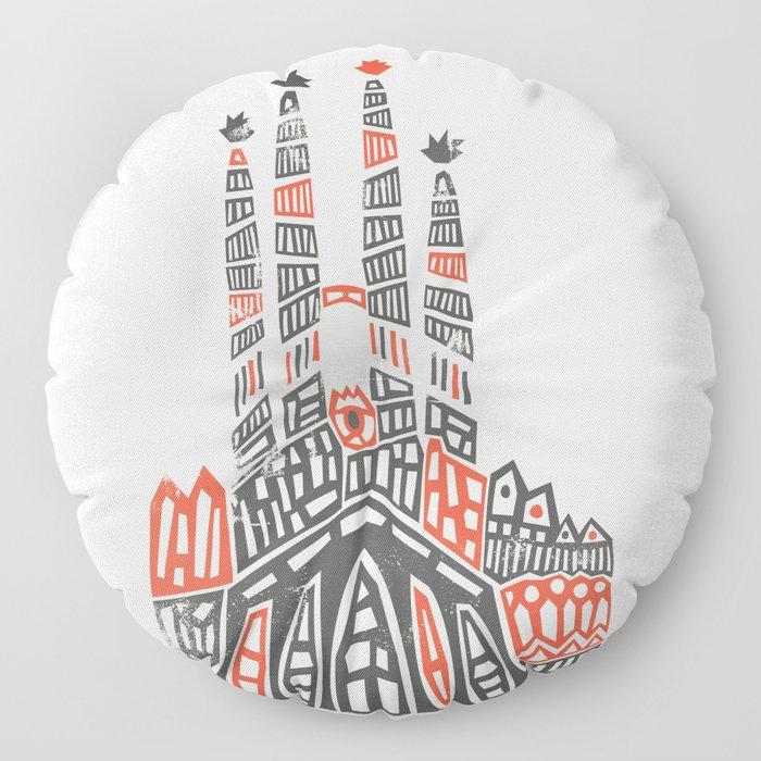 Sagrada Familia Floor Pillow