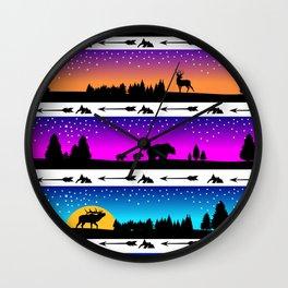animal silhouette pattern Wall Clock