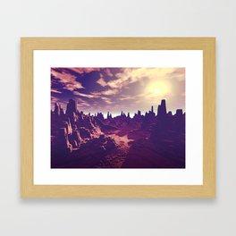 Arizona Canyon Sunshine Framed Art Print