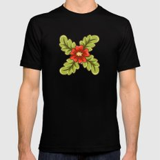 Guild of flowers and leaves! MEDIUM Black Mens Fitted Tee