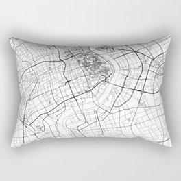 Shanghai White Map Rectangular Pillow