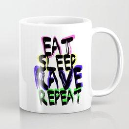 Eat, Sleep, Rave, Repeat Coffee Mug