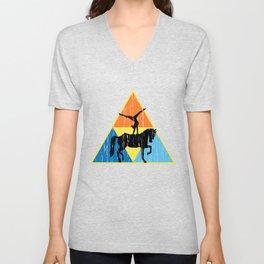Vaulting Triangle T Shirt DISTRESSED EDI Unisex V-Neck