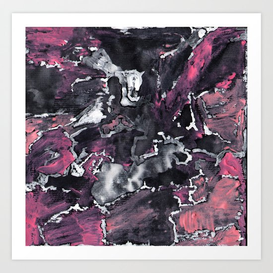 Pink Painting  Art Print
