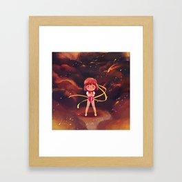 Aim for the top! Framed Art Print