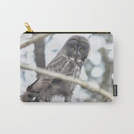 Let Us Prey - Great Grey Owl & Mouse Carry-All Pouch
