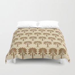 Nutmeg Spice Moods Palm Duvet Cover