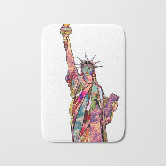 the french gift: statue of liberty Bath Mat