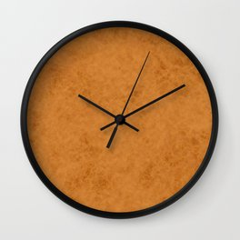 Yellow suede Wall Clock